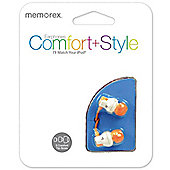 Memorex CB25 Comfort In-Ear Headphones - Orange Tips