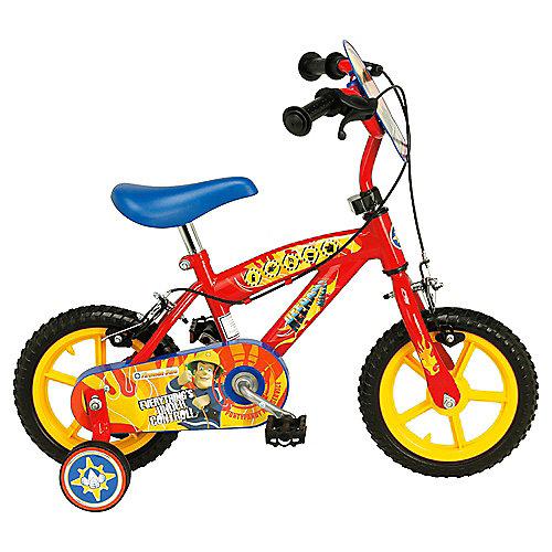Fireman Sam Kids 12? Wheel Bike - Boys with stabilisers