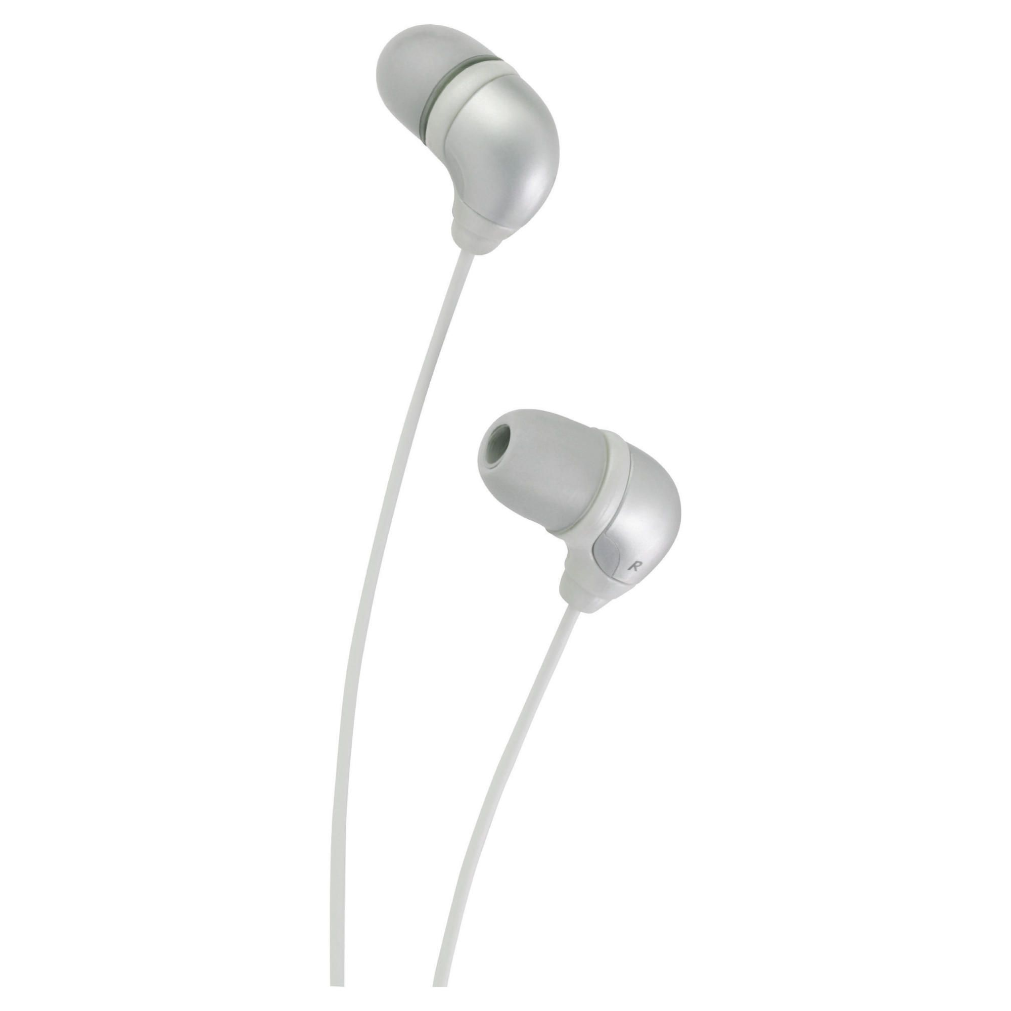 JVC Marshmallow Comfortable Fit Earphones Silver HA-FX35SE