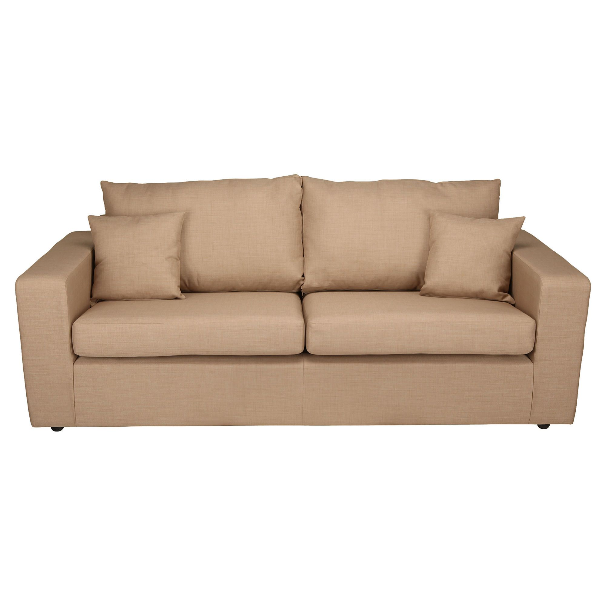 Maison Large Fabric Sofa, Linen at Tesco Direct