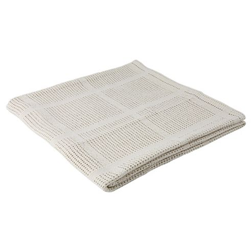 Tesco Cellular Blanket - Cot/Cot Bed, Cream