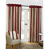 Newquay Eyelet Curtains 168 x 229cm - Black & Red