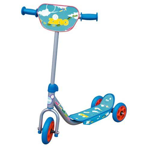 Zinc 3-Wheel Tri Scooter, Silver/Blue