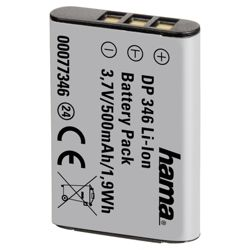 Hama DP 346 Li-Ion Battery for Nikon/Pentax (Equivalent to Nikon EN-EL11, Pentax D-Li78, Ricoh DB80 battery)