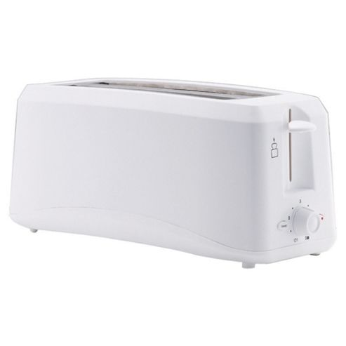 Tesco 4T10 4 Slice Long Slot Toaster - White