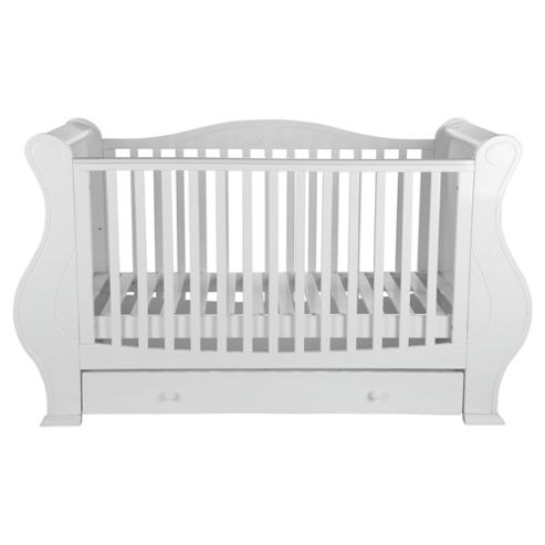 Tutti Bambini Louis Fix Side Sleigh Marie Cot Bed, White