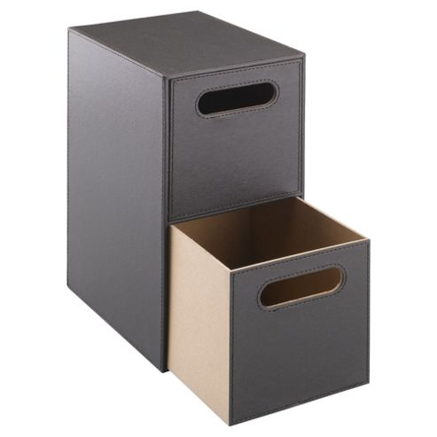 Tesco Faux Leather 2 Drawer Unit