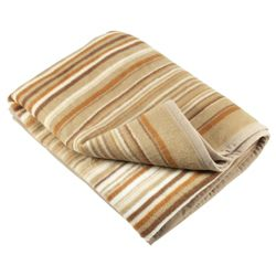 Biederlack (Didas) Thermosoft Stripe Throw 180X220Cm, Natural