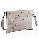 Nude Star Applique Clutch Bag