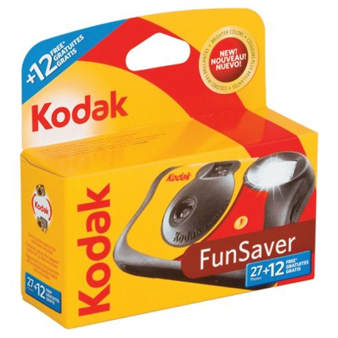 Kodak Fun Flash - Disposable single use camera with flash (27 photos)