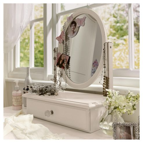 Lille Dressing Table Mirror, Ivory