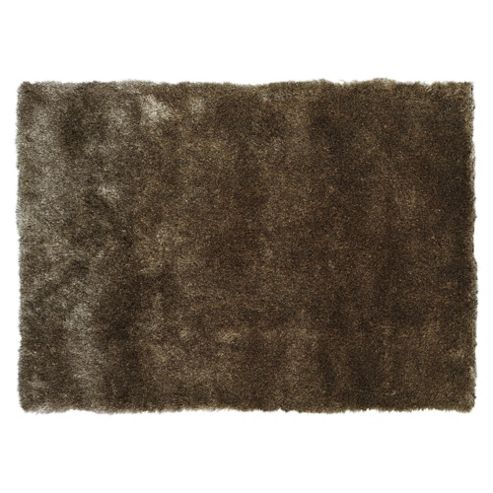 Tesco Rugs Luxurious Shaggy Rug 70X140Cm Platinum