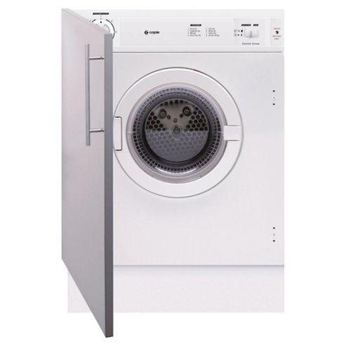 Caple Sensor TDi110 Vented Integrated Tumble Dryer, 6 kg Load, C Energy Rating. White