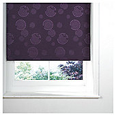 Circle Printed Blackout Roller Blind 60x160cm Plum