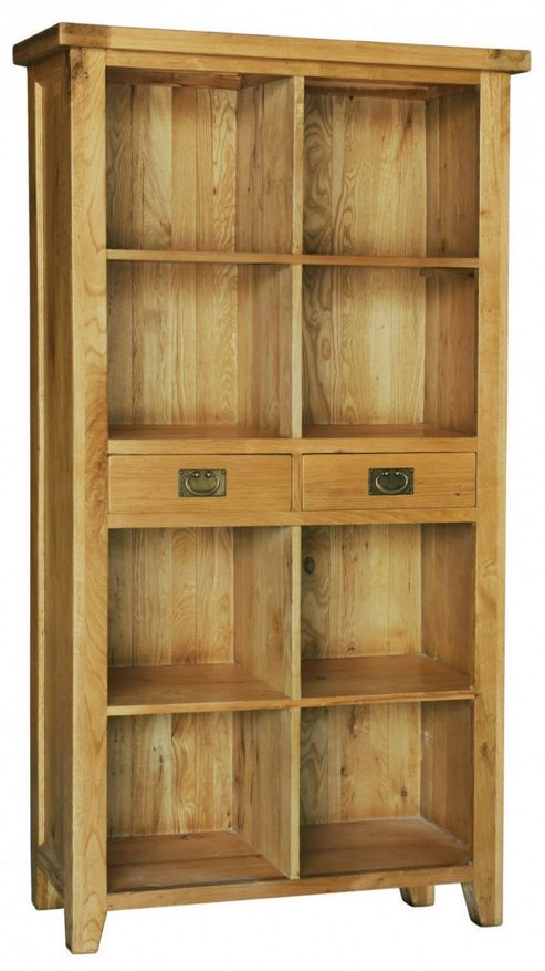 Hawkshead Calgary Bookcase with 2 Drawers