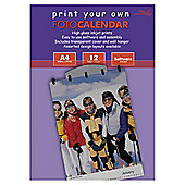 Media Foto Calendar Kit  (12 sheets A4 Gloss photo paper, software, cover and wall hanger)
