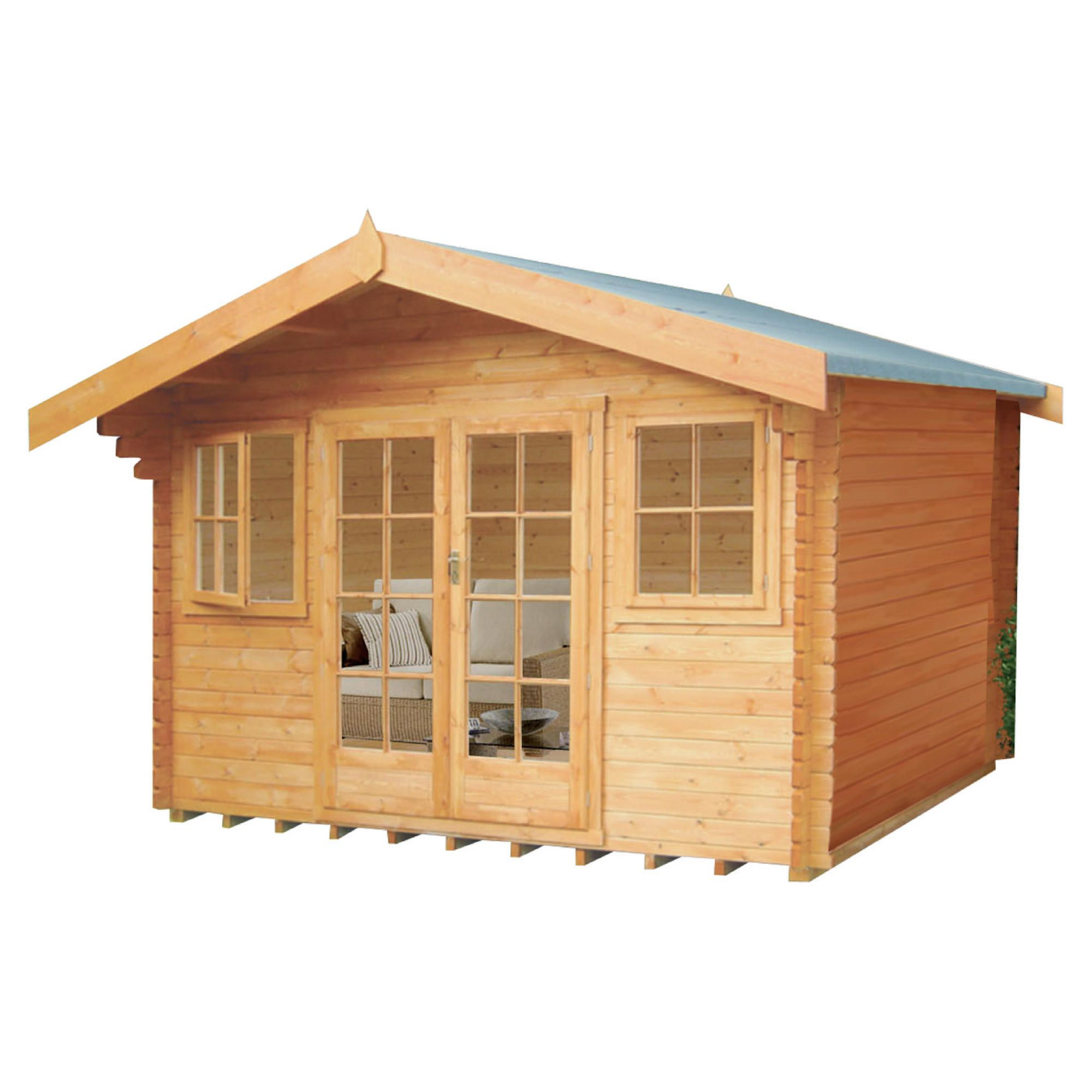 Finewood Clipstone Cabin inc Installation at Tesco Direct