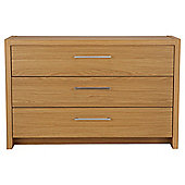 Manhattan 3 Drawer Chest, Oak Effect