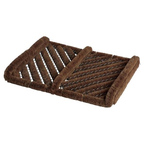 Herringbone Natural Cocoa Fibre Snow Mat