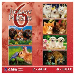 Kids 6 In 1 Puzzle Box Set