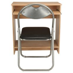 Foye Desk, Oak Effect & Folding Chair Set