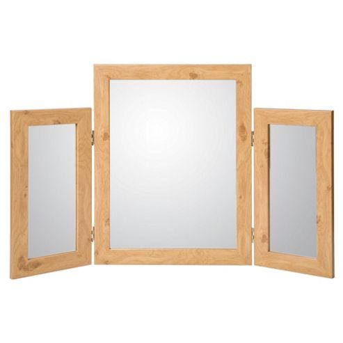 Basic Desk Mirror - Oak Effect