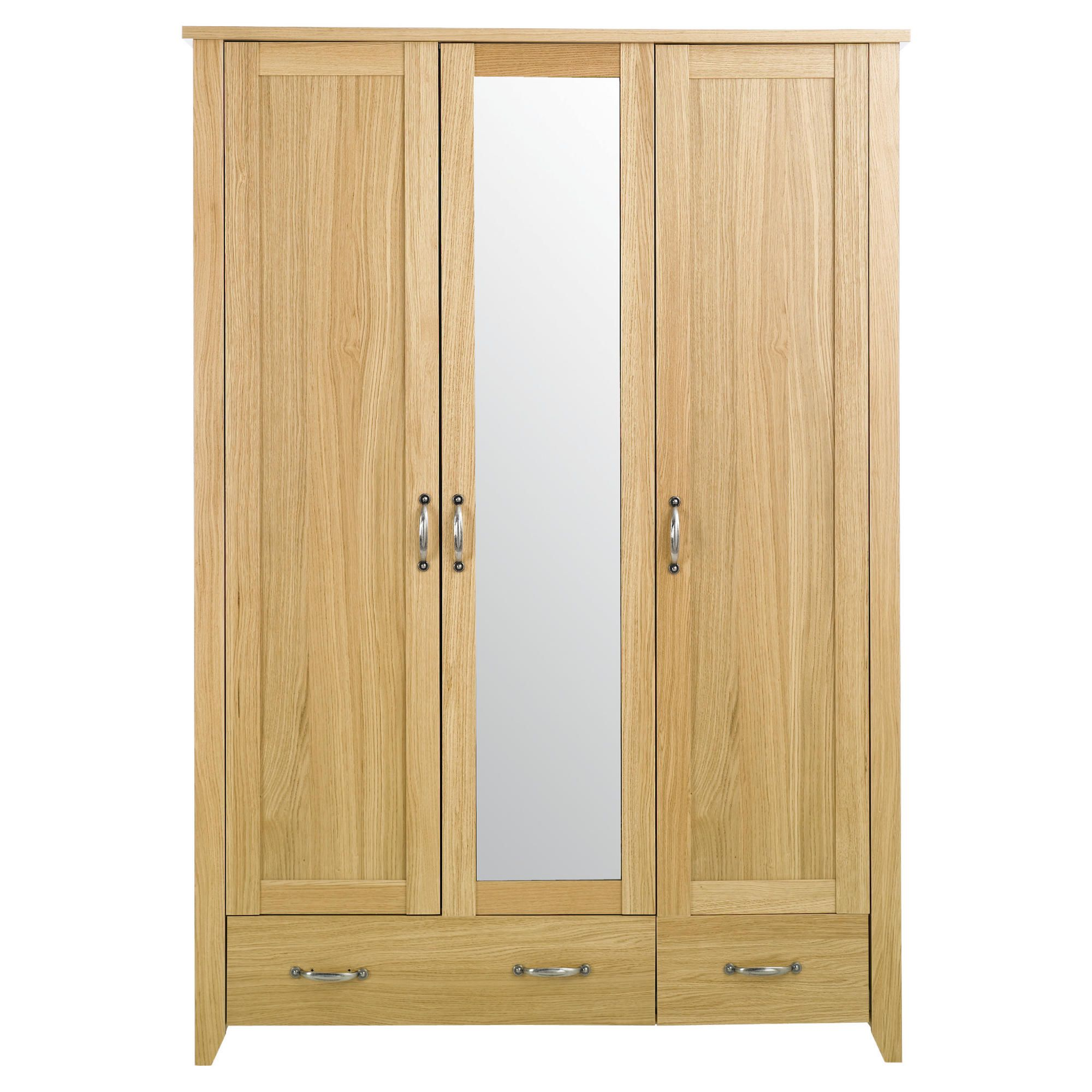 Harrogate Triple Wardrobe, Oak Veneer at Tescos Direct