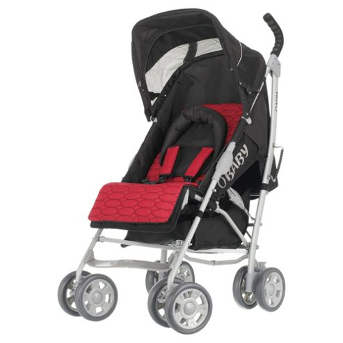 Obaby Aura Deluxe Pushchairs, Black and Red