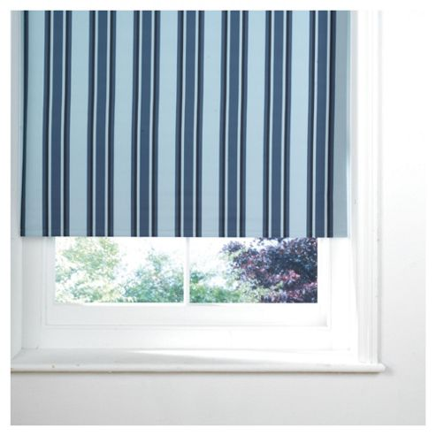 Stripe Blackout Roller Blind 180X160Cm Black