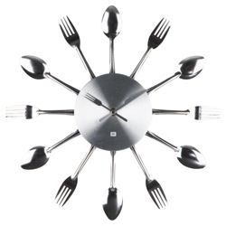 Presenttime Utensils Wall Clock