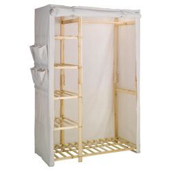 Double wardrobe with shelving