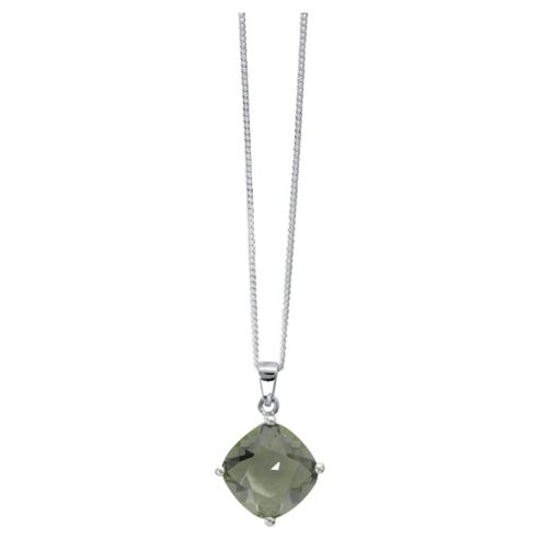 ICE BRIGHT pendant, Sterling Silver Green Crystal Solitaire, made with SWAROVSKI ELEMENTS