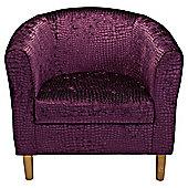 Tub Chair Velvet Effect Purple