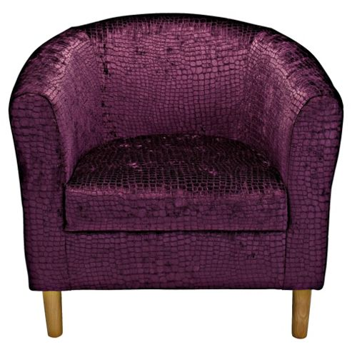 Tub Chair Velvet Effect Purple