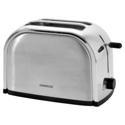 Kenwood TTM100 Classic Stainless Steel 2 Slice Toaster.