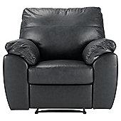 Alberta Leather Recliner Armchair, Black
