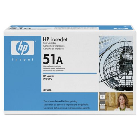 HP Q7551A Laser Toner Cartridge - Black
