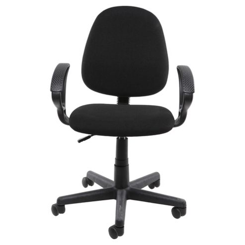 Milo Fabric Office Chair, Black
