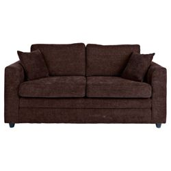 Abbey Medium Fabric Sofa, Chocolate