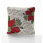 Christmas Joy Tapestry Cushion - 46x46cm