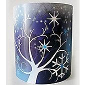 Frozen Wonderland, Blue and White Ceiling Light Shade