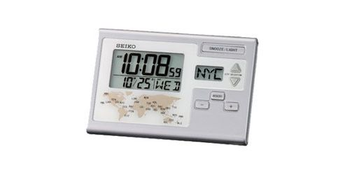 SEIKO LCD Alarm Clock with World Time