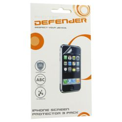 iPhone 3GS 3 in 1 Screen Protector Pack - Red