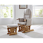Tutti Bambini GC35 Glider Chair & Stool, Natural