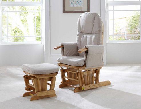 Tutti Bambini GC35 Glider Chair & Stool, Natural