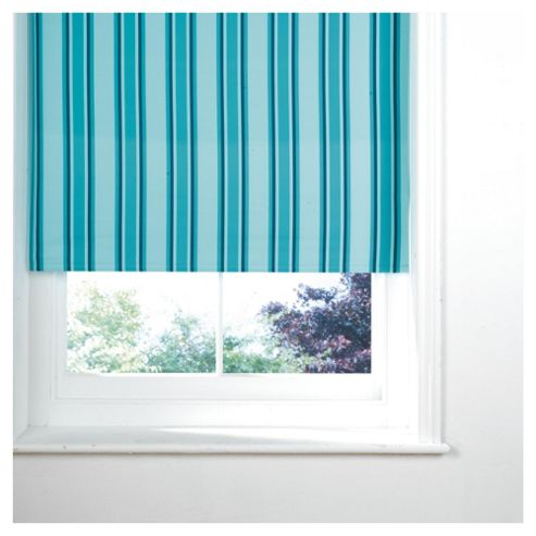 Stripe Blackout Roller Blind 90X160Cm Teal