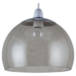 Tesco Lighting Bobble Glass Pendant Smoky