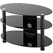 "Alphason 32"" TV Stand Oval Black Glass Universal T-ESO800/3"