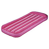 Tesco Flocked Kids' Air Bed, Pink