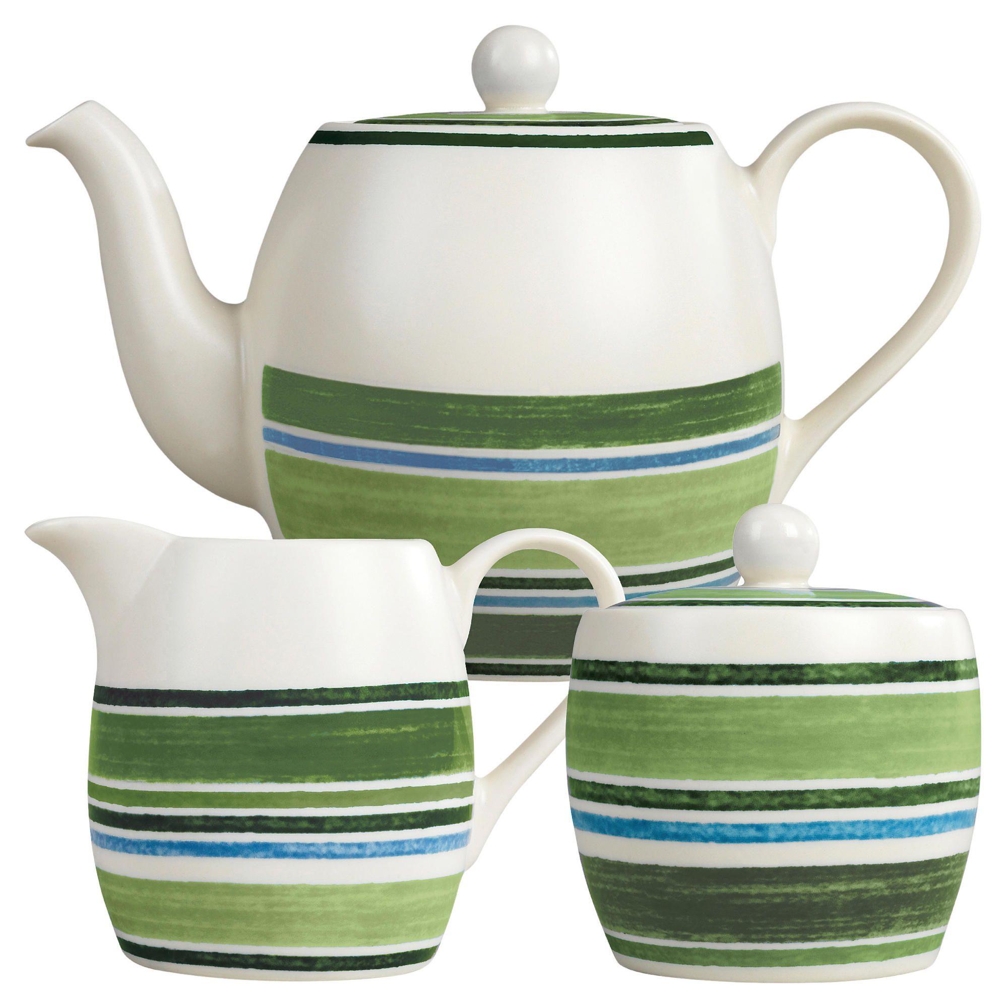 Johnson Bros Farmhouse Kitchen Woodland Stripe Teapot Set